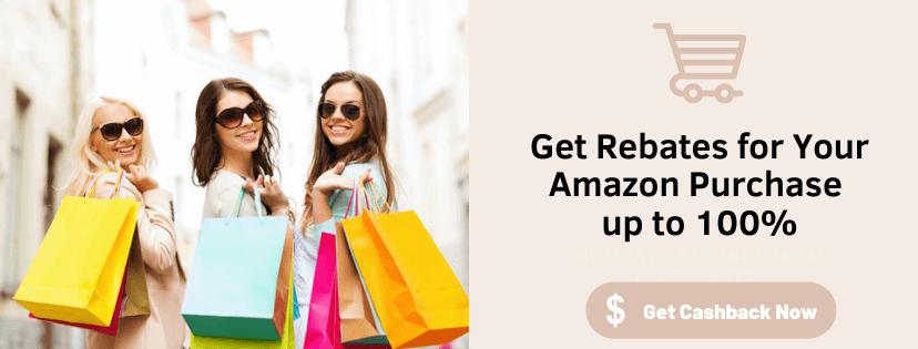 100% rebate on Amazon