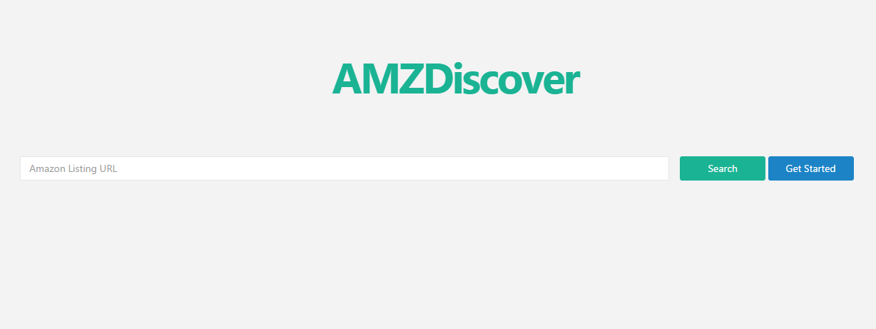 amzdiscover interface