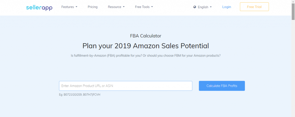 Amazon FBA Calculator by Sellerapp