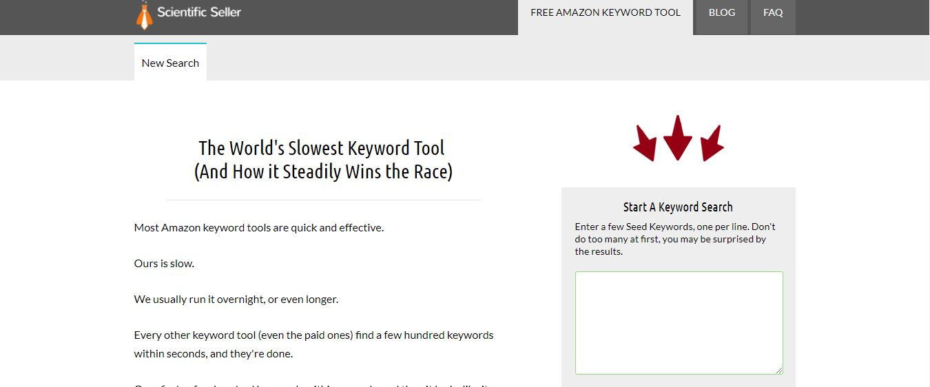 Scientific-Seller keyword tool