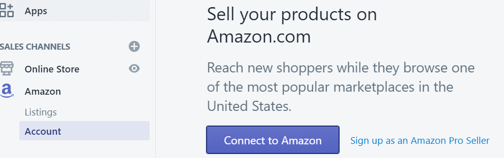 Connect to Amazon-Shopify