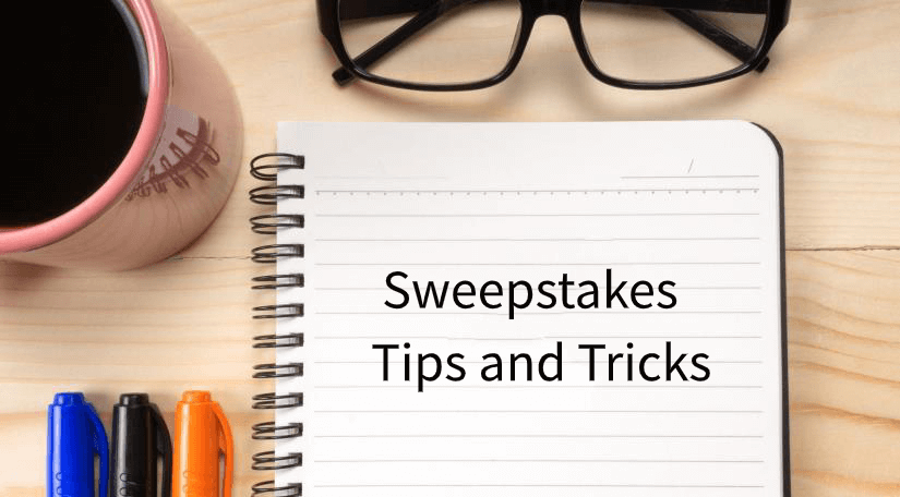 win sweepstakes tips