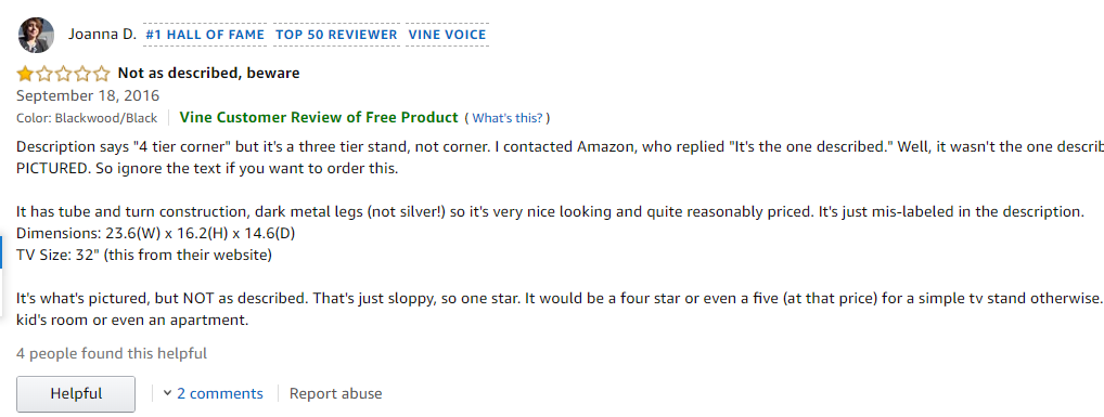Amazon vine review