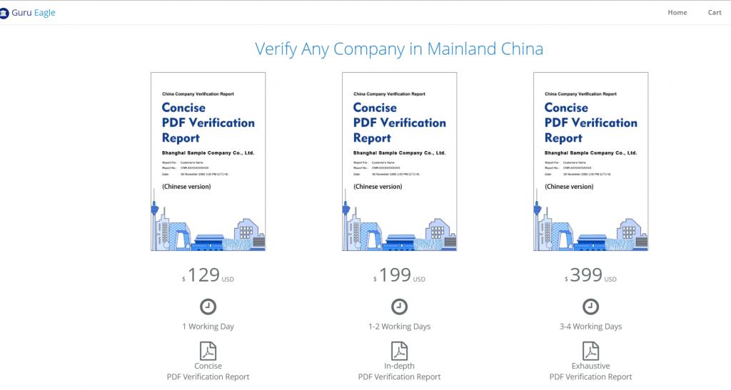 Guru Eagle- Chinese company verficaiton service
