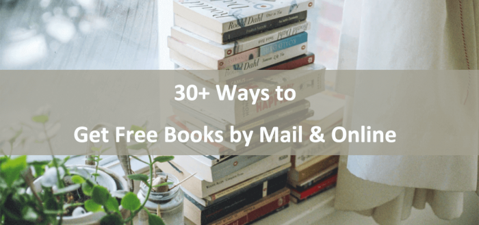 how to get free books by mail