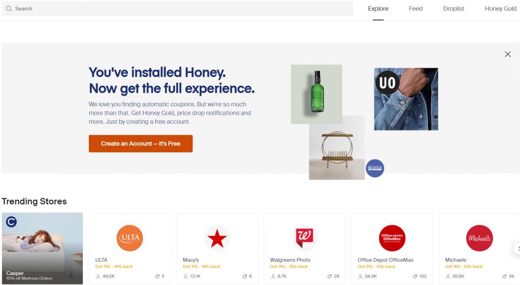 Honey - money saving app