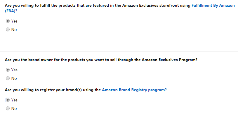 apply for Amazon Exclusives 3