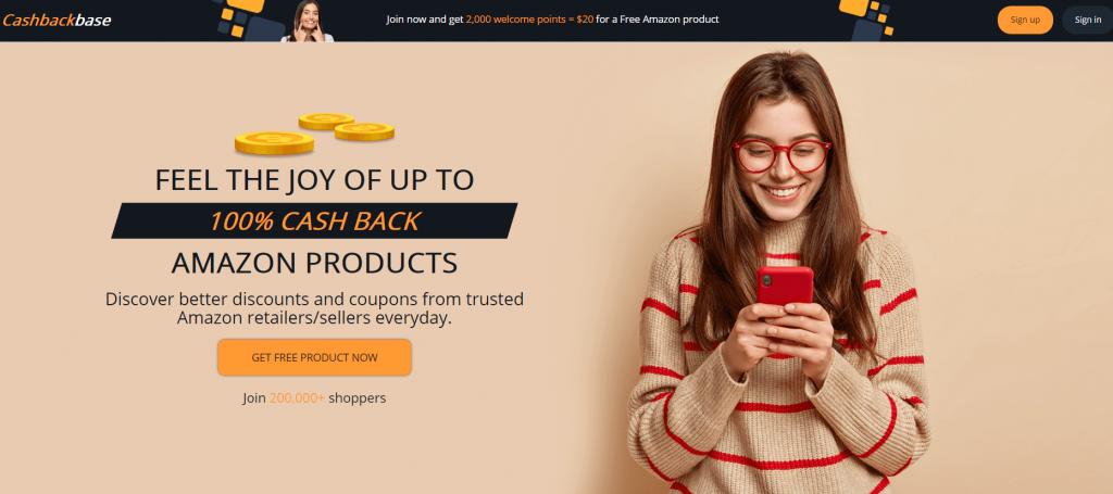cashbackbase amazon rebate site